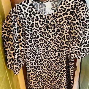 NWT cute puff sleeve leopard dress!!